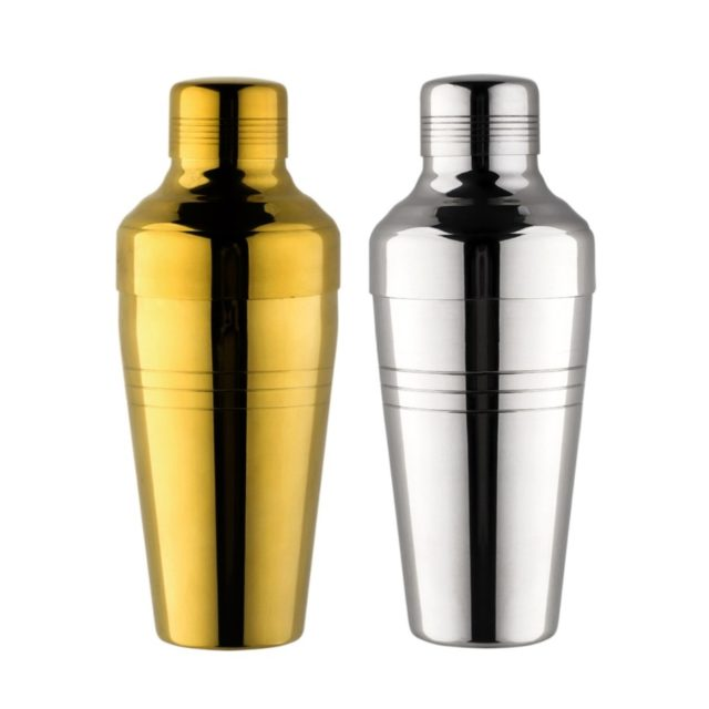 Stylish Cocktail Shaker in Gold or Silver